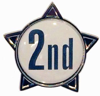 2nd titled star shape badge